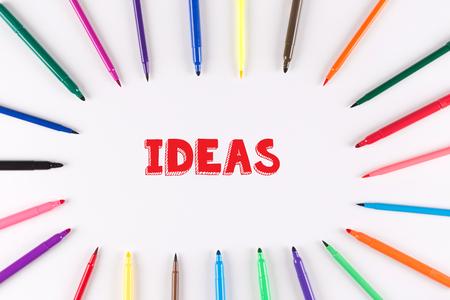 multi colored: Multi Colored Pen written IDEAS
