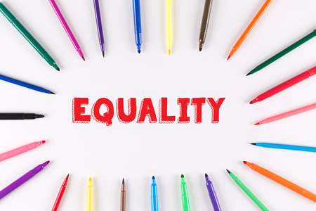 multi colored: Multi Colored Pen written EQUALITY