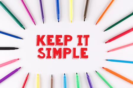 cogent: Multi Colored Pen written KEEP IT SIMPLE