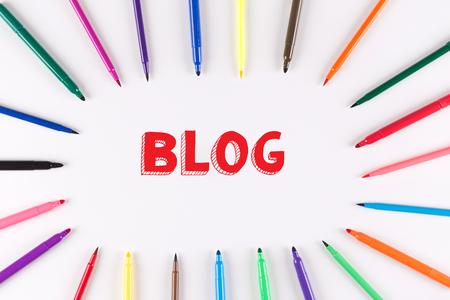 multi colored: Multi Colored Pen written BLOG