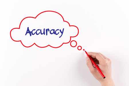 accuracy: Hand writing Accuracy on white paper, view from above
