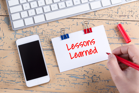 summarize: Paper note with text Lessons Learned