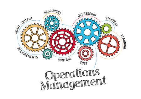 Gears and Operations Management Mechanism 向量圖像