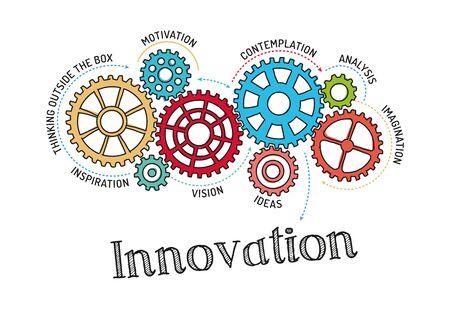 Gears and Innovation Mechanism Ilustração Vetorial