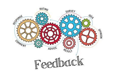 feedback: Gears and Feedback Mechanism Illustration
