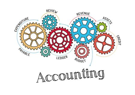 Gears And Accounting Mechanism Illustration