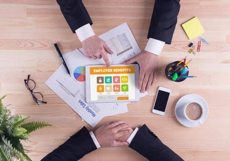 pay raise: Business team concept - Employee Benefits