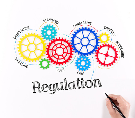 Business Gears and Regulation Mechanism Stock Photo