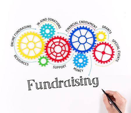 business gears: Business Gears and Fundraising Mechanism Stock Photo