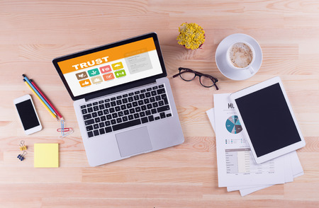 belief systems: Business desk concept - Trust