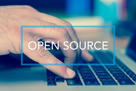open source: Technology Concept: OPEN SOURCE