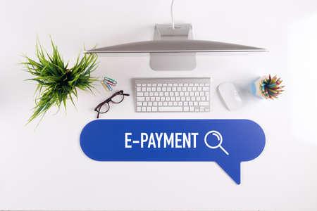 epayment: E-PAYMENT Search Find Web Online Technology Internet Website Concept
