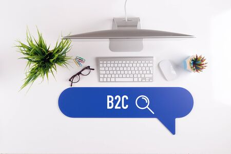 b2c: B2C Search Find Web Online Technology Internet Website Concept