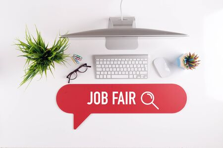 JOB FAIR Search Find Web Online Technology Internet Website Concept Stock Photo