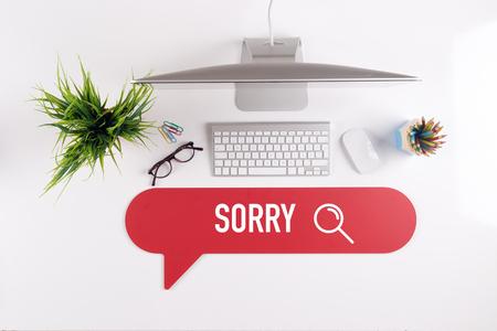find fault: SORRY Search Find Web Online Technology Internet Website Concept
