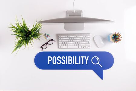 possibility: POSSIBILITY Search Find Web Online Technology Internet Website Concept