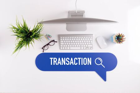 technology transaction: TRANSACTION Search Find Web Online Technology Internet Website Concept