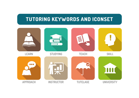 indoctrination: Tutoring Flat Icon Set
