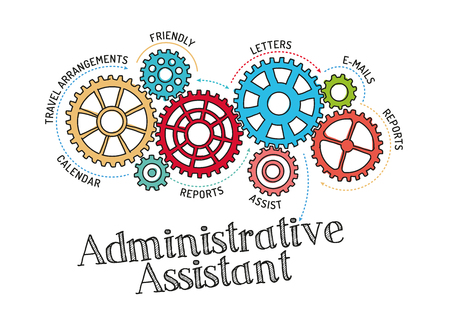 Gears and Administrative Assistant Mechanism Ilustrace