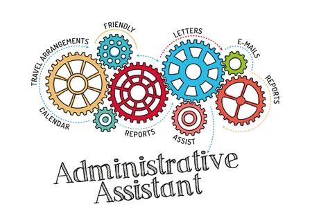 Mecanismo de engranajes y auxiliar administrativo