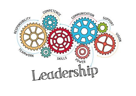 Gears and Leadership Mechanism 版權商用圖片 - 57637253