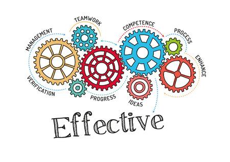 Engrenages et mécanisme efficace Vecteurs