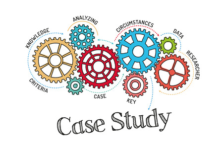 Gears and Case Study Mechanism Stock Illustratie