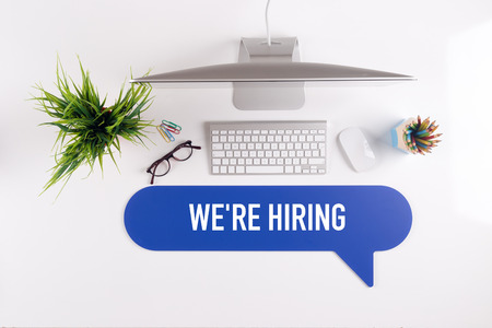 WE'RE HIRING Search Find Web Online Technology Internet Website Concept