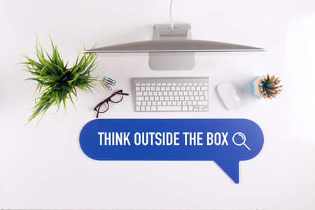 expressing artistic vision: THINK OUTSIDE THE BOX Search Find Web Online Technology Internet Website Concept