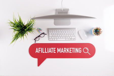 web marketing: AFILLIATE MARKETING Search Find Web Online Technology Internet Website Concept Stock Photo