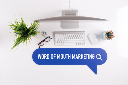 referrer: WORD OF MOUTH MARKETING Search Find Web Online Technology Internet Website Concept