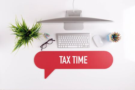 exemption: TAX TIME Search Find Web Online Technology Internet Website Concept Stock Photo