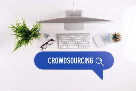 CROWDSOURCING Search Find Web Online Technology Internet Website Concept