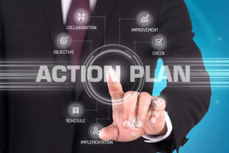 plan de accion: Plan de acción con tecnología de pantalla táctil