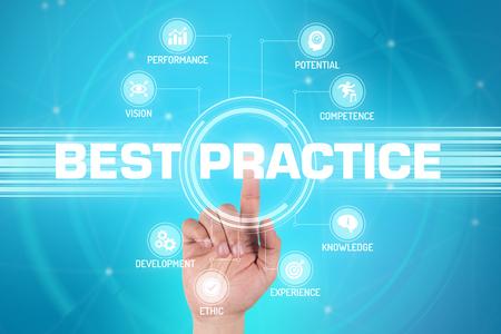 BEST PRACTICE TECHNOLOGY COMMUNICATION TOUCHSCREEN FUTURISTIC CONCEPT