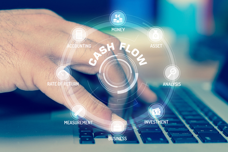 CASH FLOW TECHNOLOGY COMMUNICATION TOUCHSCREEN FUTURISTIC CONCEPT