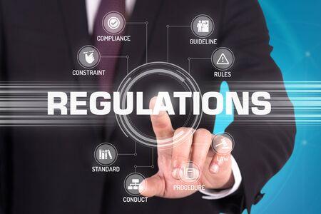 REGULATIONS TECHNOLOGY COMMUNICATION TOUCHSCREEN FUTURISTIC CONCEPT