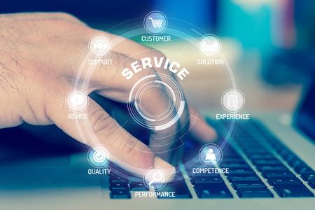 SERVICE TECHNOLOGY COMMUNICATION TOUCHSCREEN FUTURISTIC CONCEPT