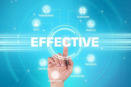 perform: EFFECTIVE TECHNOLOGY COMMUNICATION TOUCHSCREEN FUTURISTIC CONCEPT Stock Photo