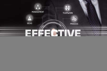 effective: EFFECTIVE TECHNOLOGY COMMUNICATION TOUCHSCREEN FUTURISTIC CONCEPT Stock Photo