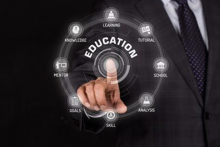 EDUCATION TECHNOLOGY COMMUNICATION TOUCHSCREEN FUTURISTIC CONCEPT