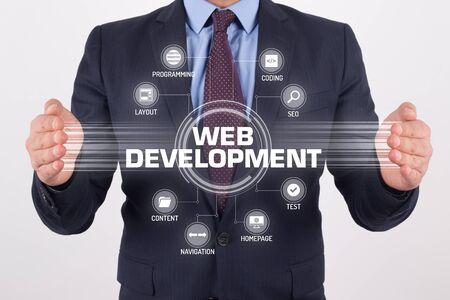 xhtml: WEB DEVELOPMENT TECHNOLOGY COMMUNICATION TOUCHSCREEN FUTURISTIC CONCEPT Stock Photo