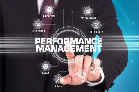 summarized: PERFORMANCE MANAGEMENT TECHNOLOGY COMMUNICATION TOUCHSCREEN FUTURISTIC CONCEPT