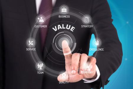 finance concept: VALUE TECHNOLOGY COMMUNICATION TOUCHSCREEN FUTURISTIC CONCEPT