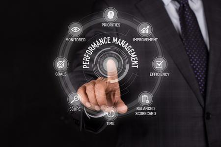 PERFORMANCE MANAGEMENT TECHNOLOGY COMMUNICATION TOUCHSCREEN FUTURISTIC CONCEPT