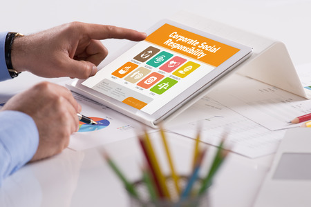 long term goal: Corporate Social Responsibility screen on the tablet pc