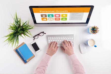 superacion personal: pantalla de Crecimiento personal en el lugar de trabajo