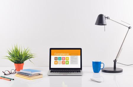 categorized: Business desk concept - Compliance Stock Photo