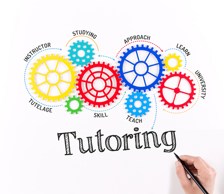 indoctrination: Business Gears and Tutoring Mechanism Stock Photo