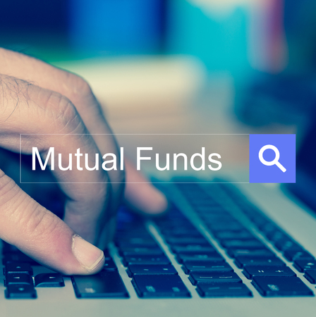 financial diversification: SEARCH WEBSITE INTERNET SEARCHING Mutual Funds CONCEPT Stock Photo